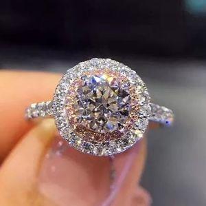 S925 Silver round cut 💎 diamond 💍 Ring